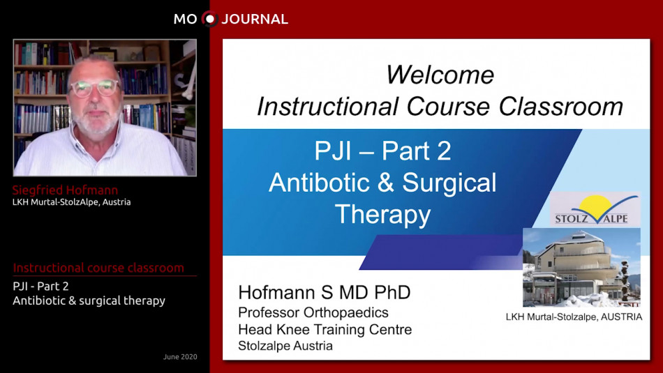 Instructional Course : PJI - Antibiotic and surgical therapy