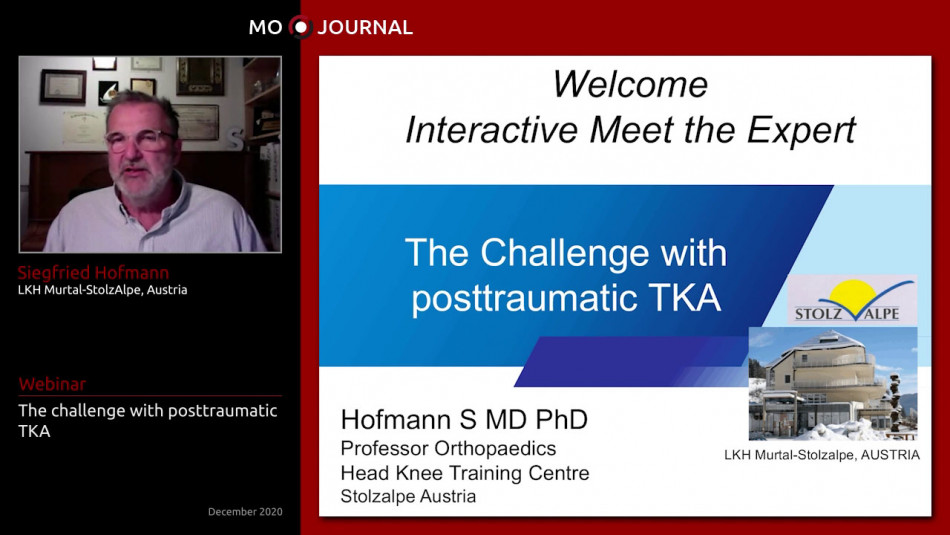 Meet the Expert : The challenge with posttraumatic TKA